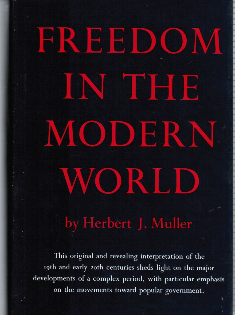 Image for Freedom in the Modern World