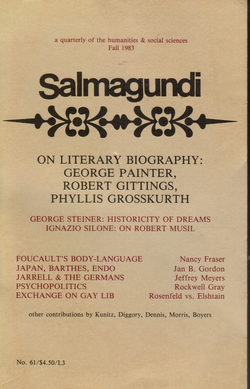 Image for Salmagundi: No. 61: Fall 1983