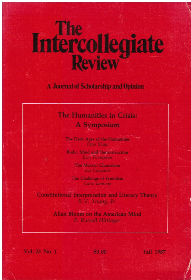 Image for The Intercollegiate Review: a Journal of Scholarship and Opinion - Volume 23, #1 Fall 1987