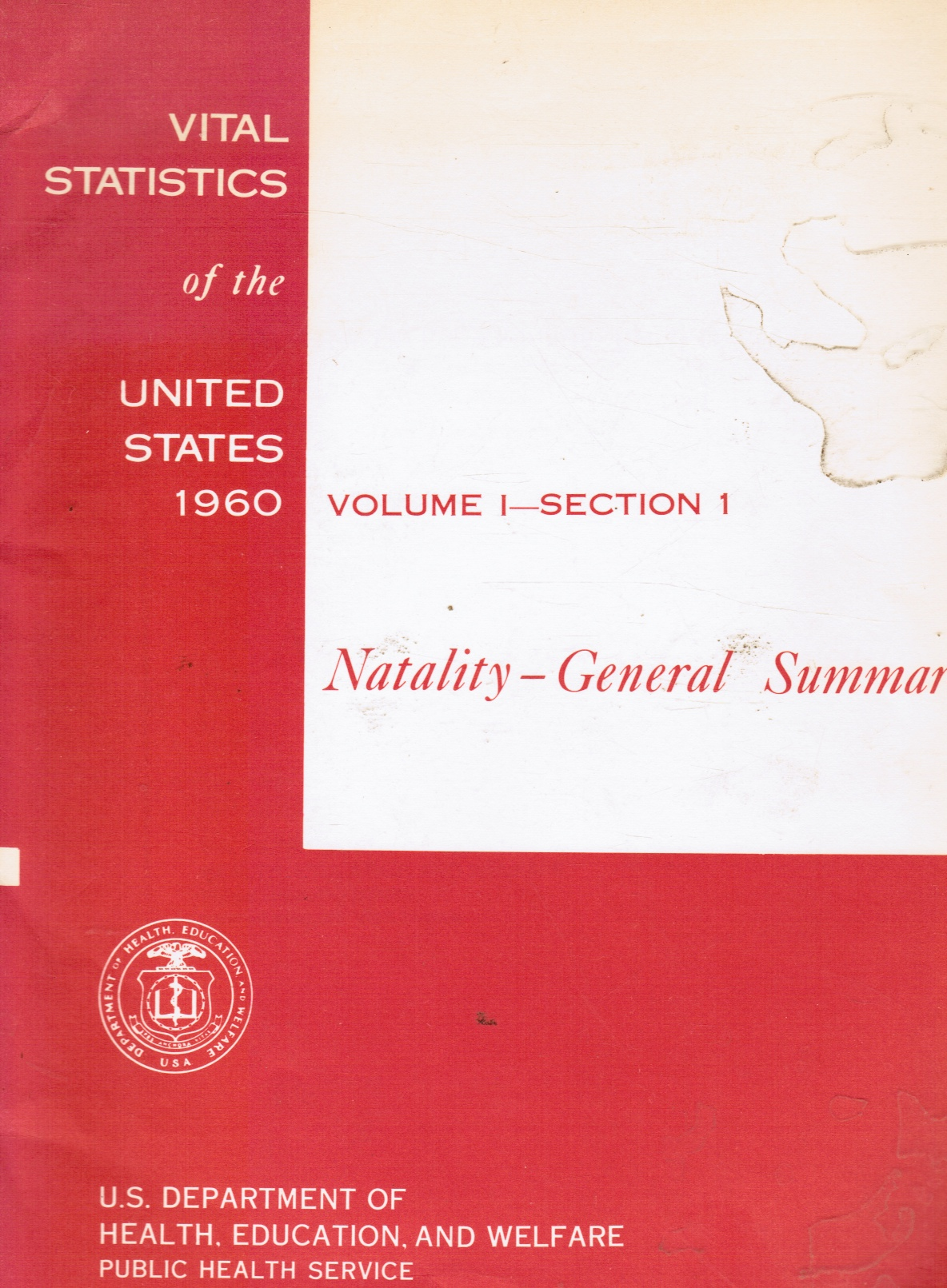 Image for Vital Statistics of the United States, 1960: Natality-General Summary