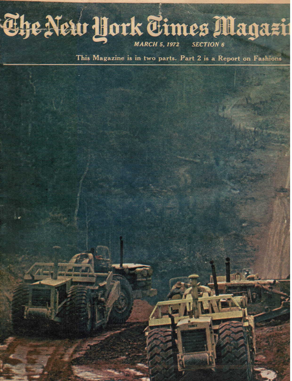 1972 - the New York Times Magazine: March 5, 1972 Amazon Jungle (Cover)