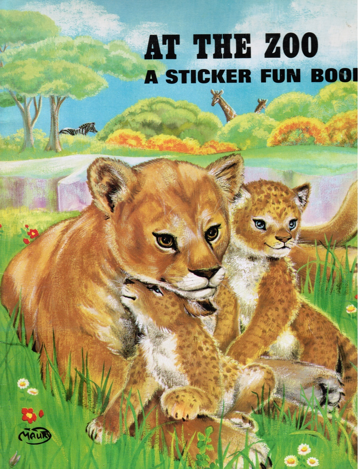 Image for At the Zoo: A Sticker Fun Book
