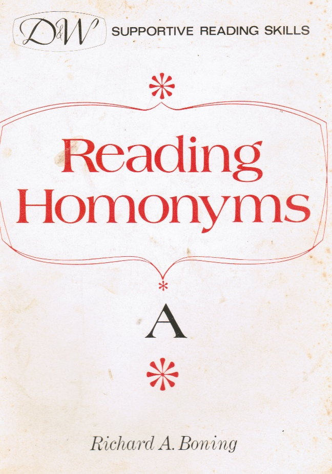 Image for Reading Homonyms -- Book A