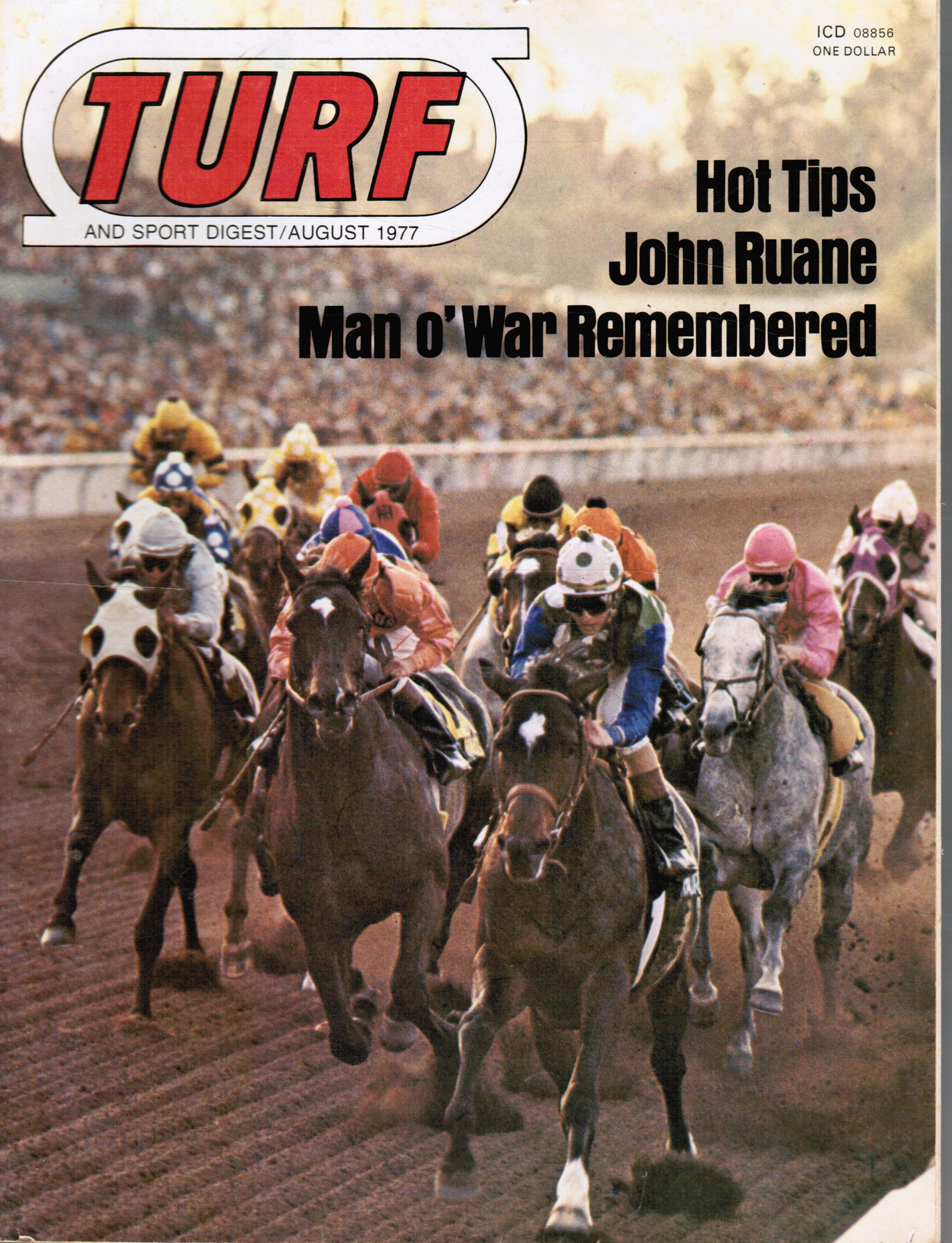 Image for Turf and Sport Digest: August 1977 Santa Anita Handicap (cover)