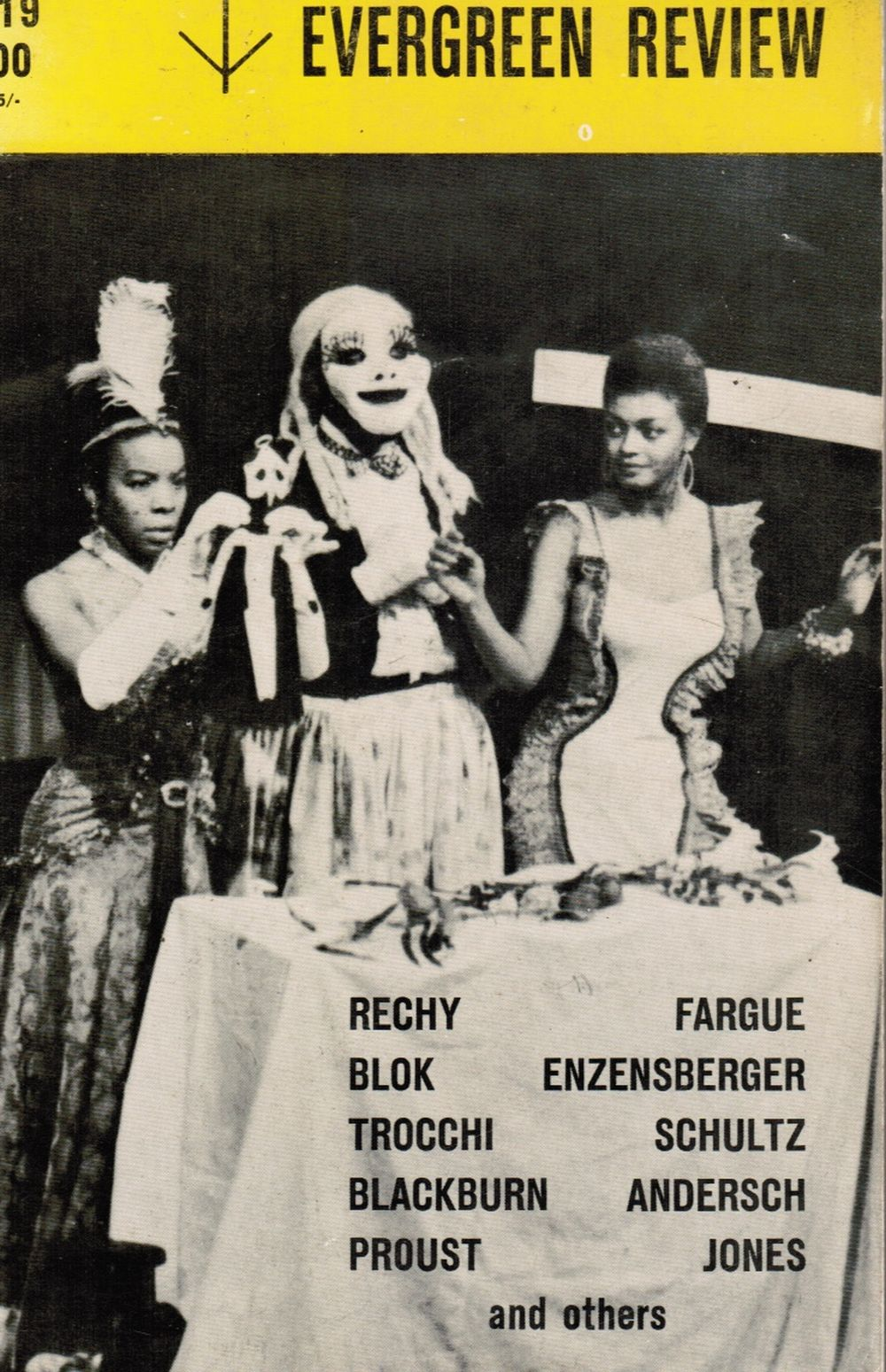 Image for Evergreen Review 19:  Cover Photo: 'the Blacks' by Jean Genet