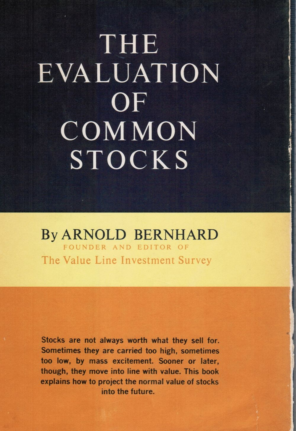 Image for The Evaluation of Common Stocks