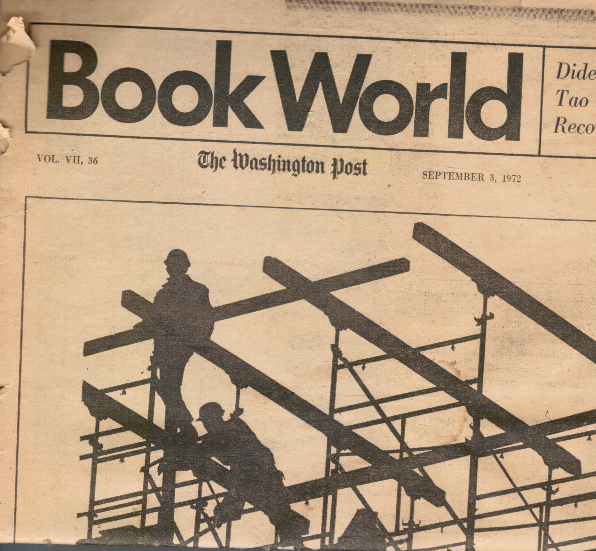 Image for Book World: the Washington Post : September 3, 1972 A E Hotchner