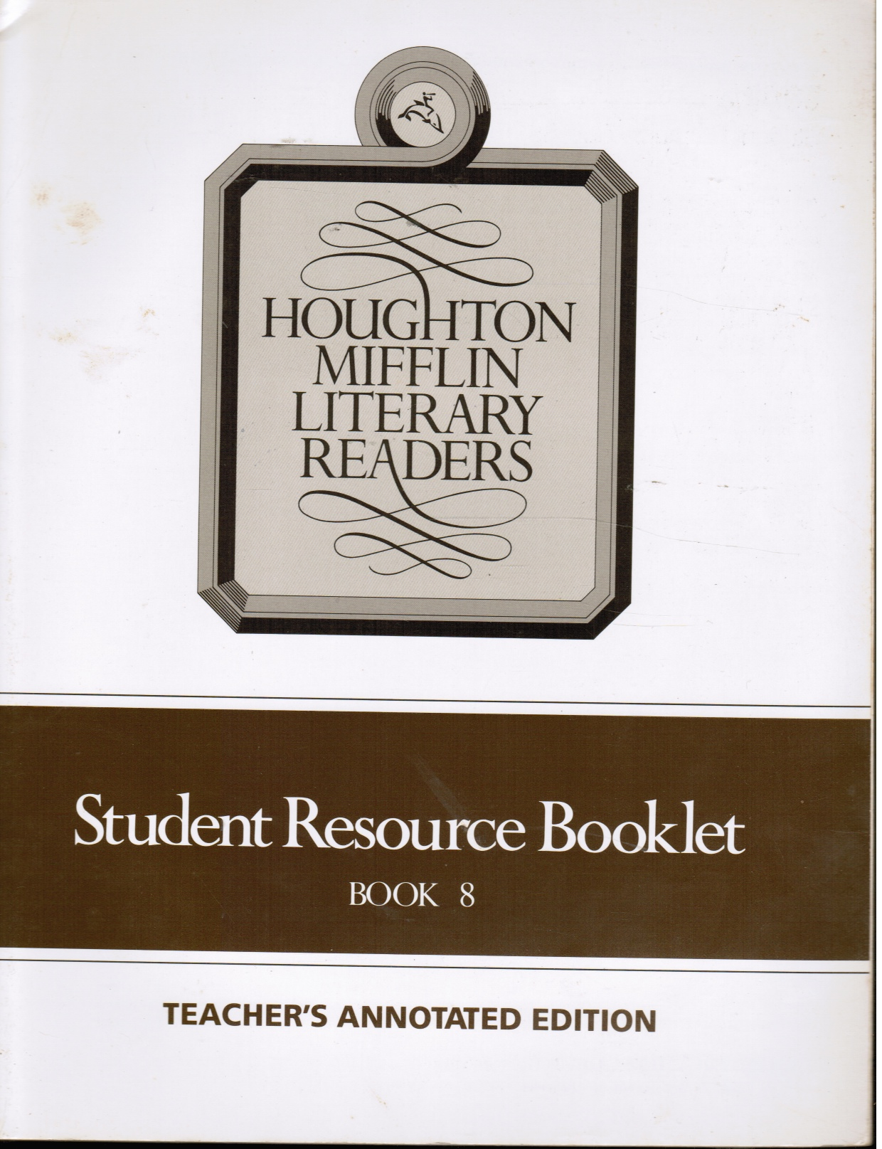 Image for Houghton Mifflin Literary Readers: Student Resource Booklet Book 8 Teacher's Annotated Edition