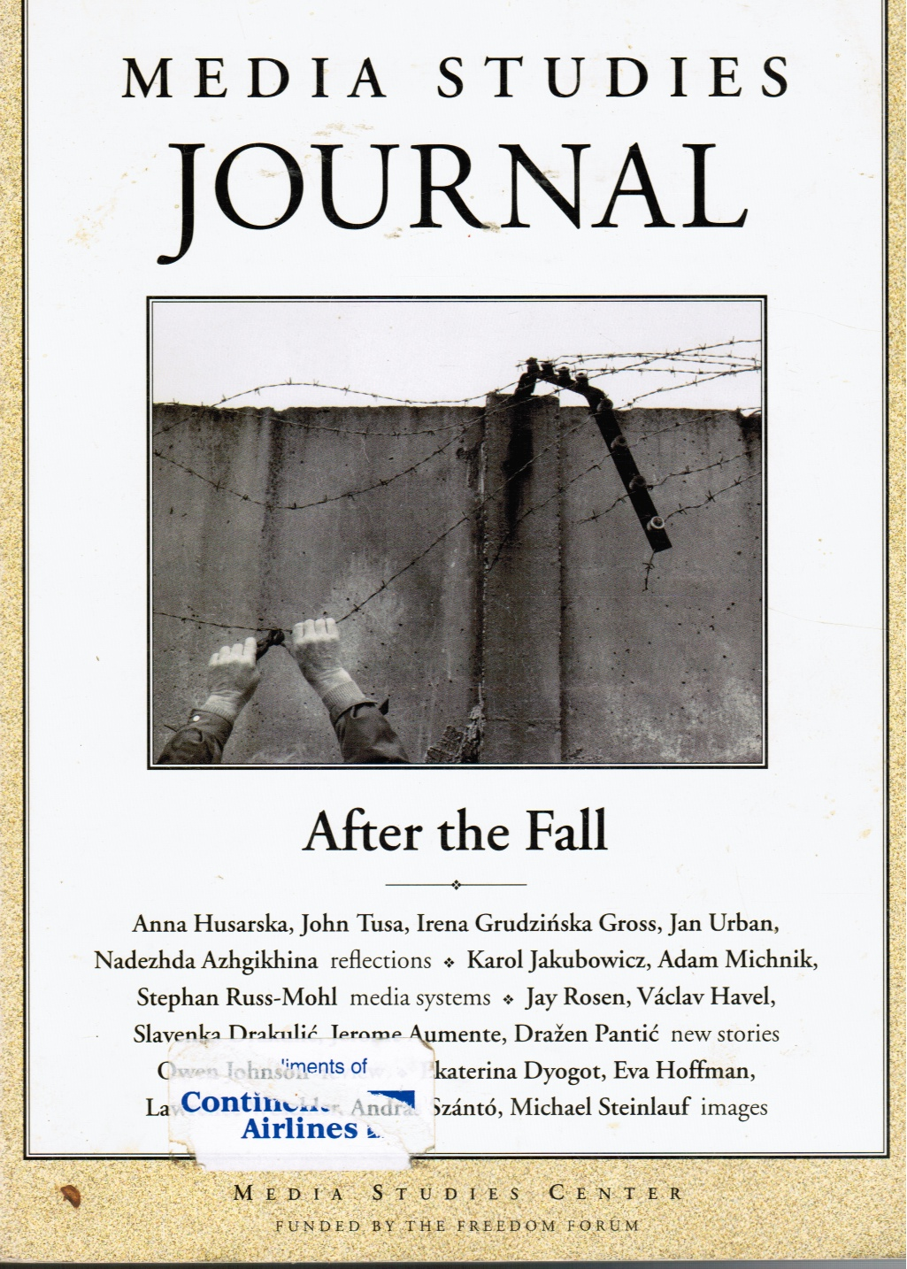Image for After the Fall: Media Studies Journal, Volume 13, Number 3, Fall 1999 (Eastern Europe)