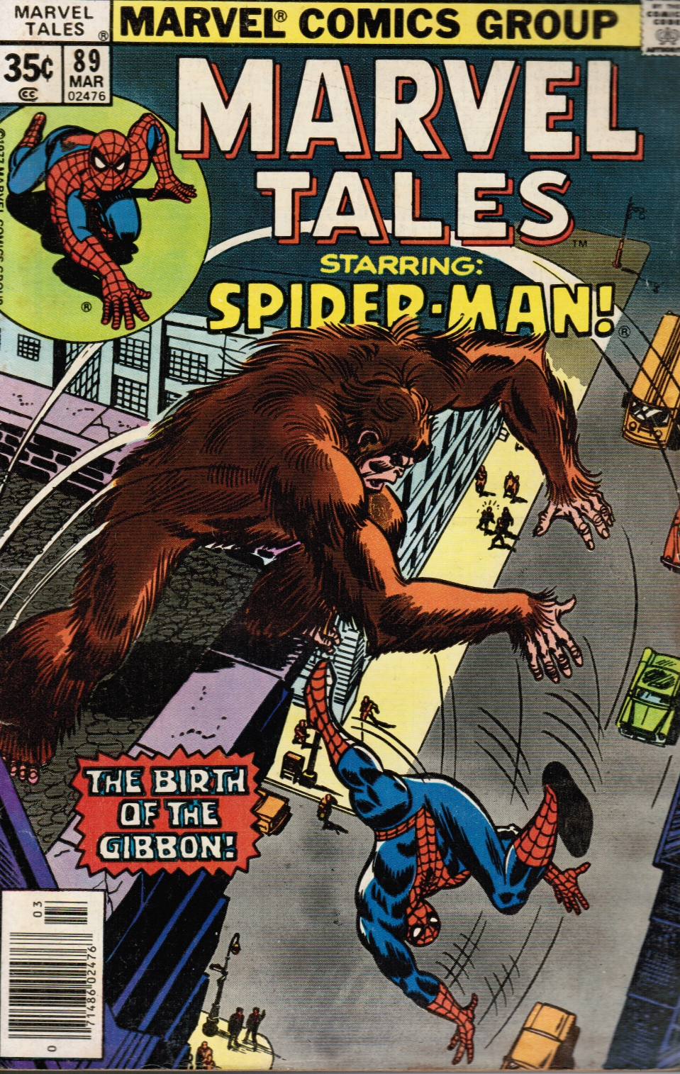 "Image for Marvel Tales #89 - Starring Spider-Man in ""The Birth of the Gibbon"""