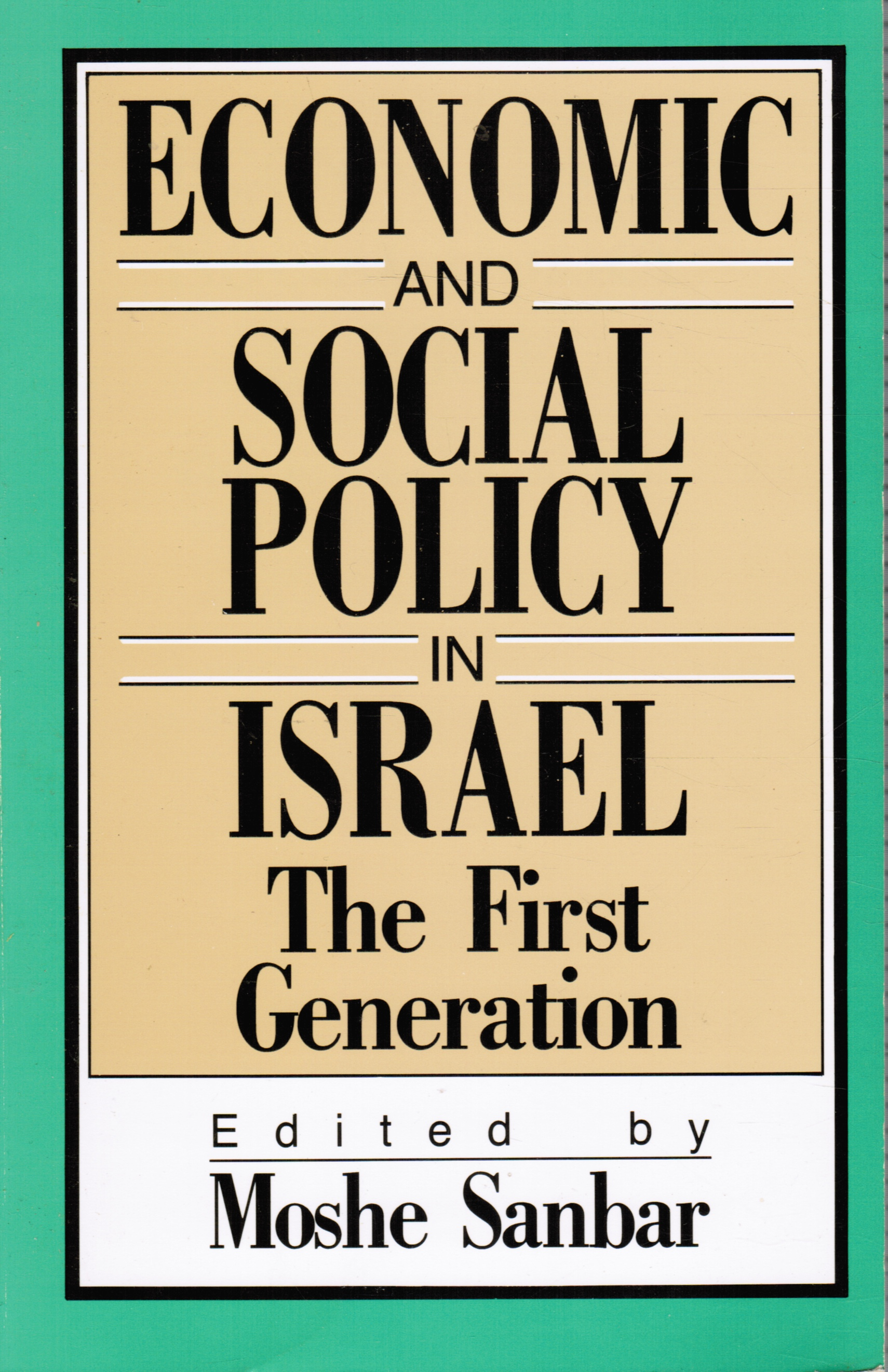 Image for Economic and Social Policy in Israel