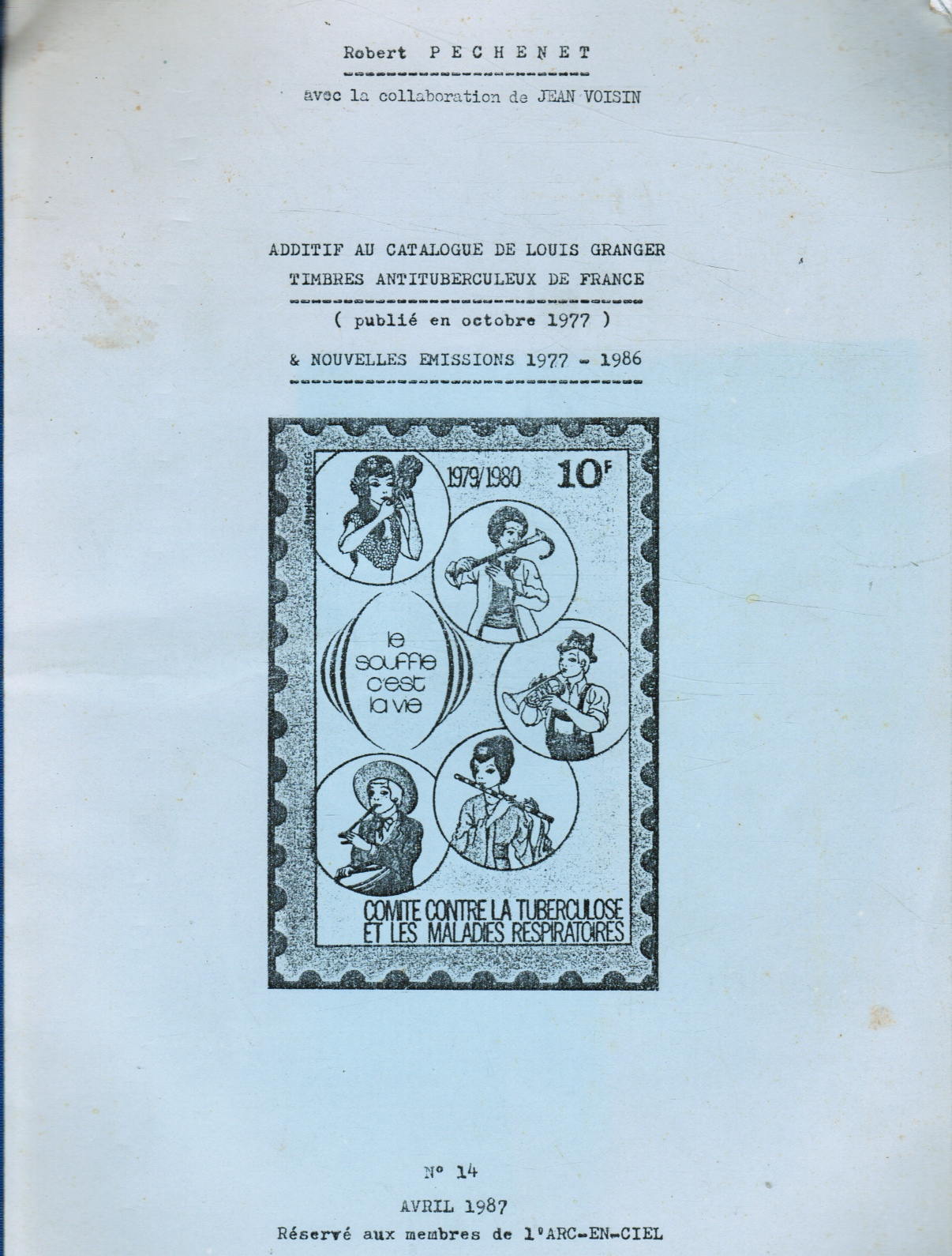 Image for Additif Au Catalogue De Louis Granger Timbres Antituberculeux De France (Public En Octobre 1977) & Nouvelles Emissions 1977-1986 Louis Granger Stamps