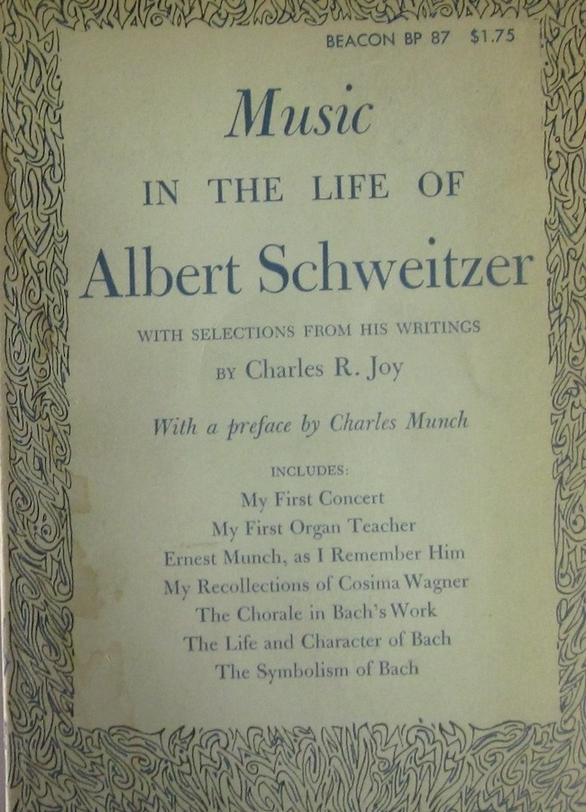 Image for Music in the Life of Albert Schweitzer