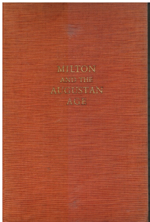 Image for The Pleasures of Poetry, a Critical Anthology   First Series- Milton and the Augustan Age