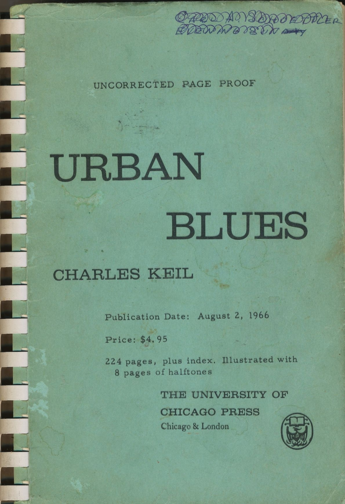 Image for Urban Blues: Uncorrected Page Proofs