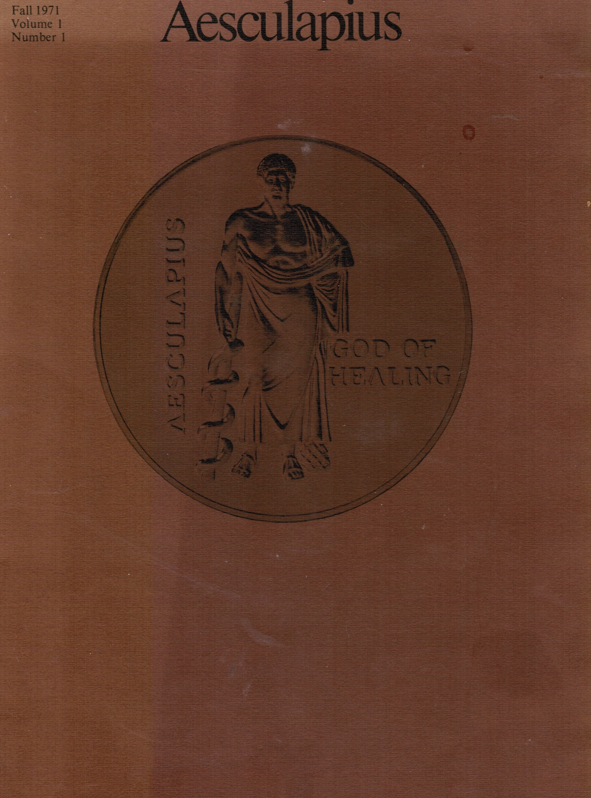 Image for Aesculapius: Journal of the History of Medicine and Sciences