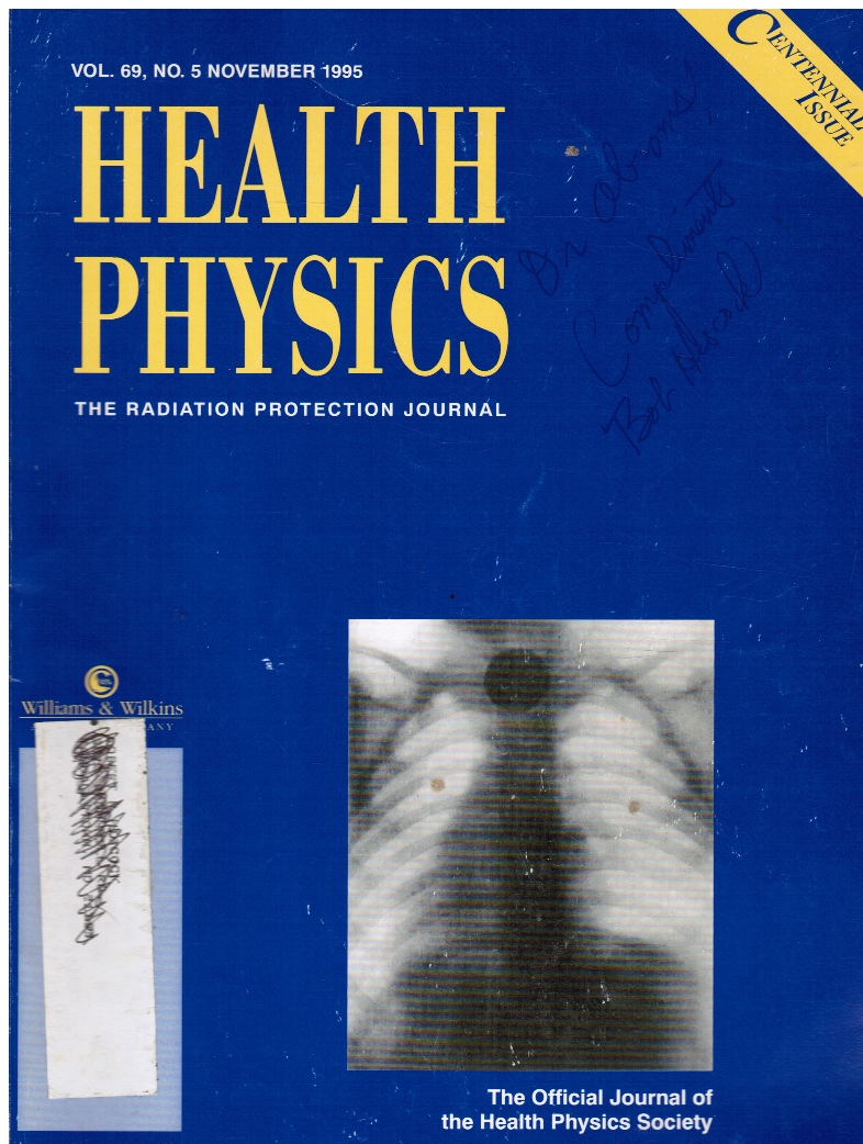 Image for Health Physics: the Radiation Protection Journal Vol 69, No 5, November 1995