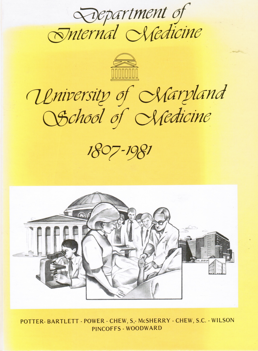 Image for Department of Internal Medicine, University of Maryland School of Medicine, 1807-1981