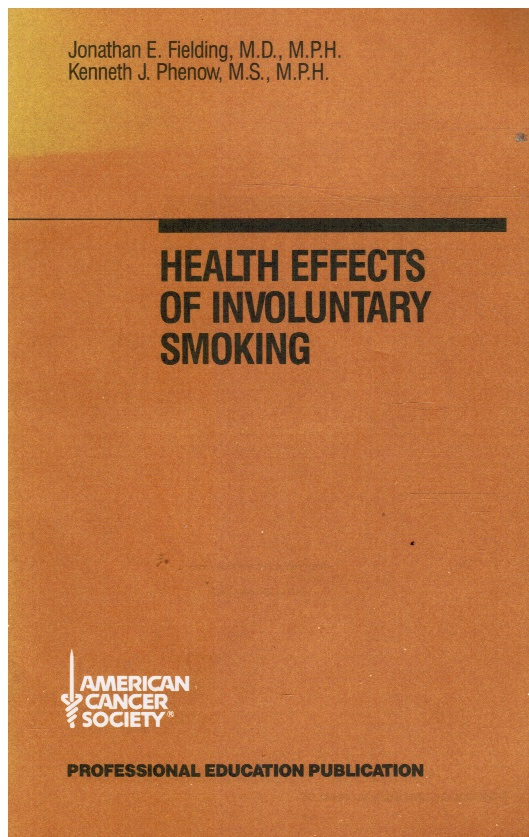 Image for Health Effects of Involuntary Smoking