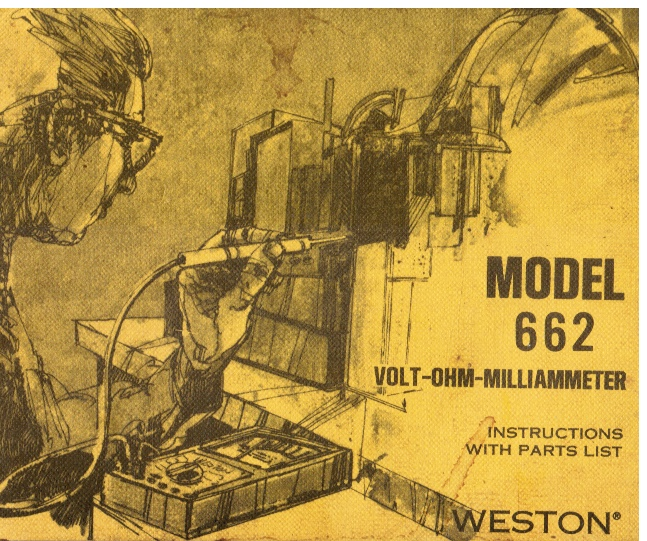 Image for Weston Model 662 Volt-Ohm-Milliammeter - Instructions with Parts List