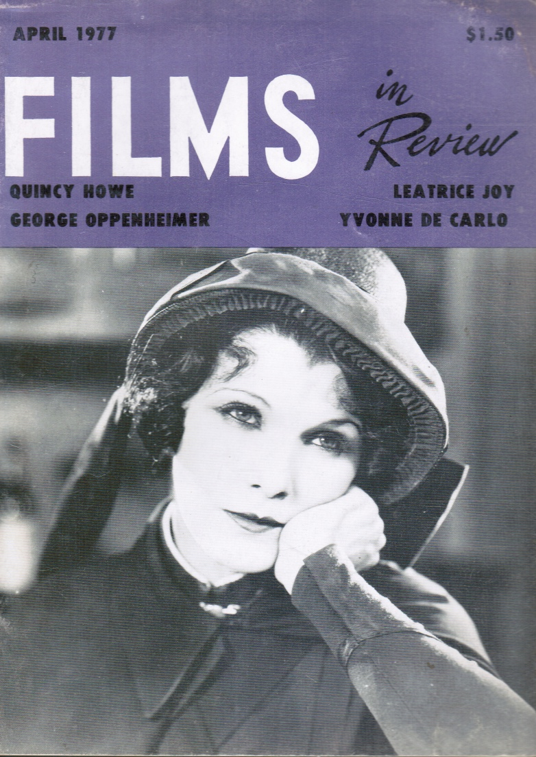 Image for Films in Review: April 1977 Leatrice Joy, Cover