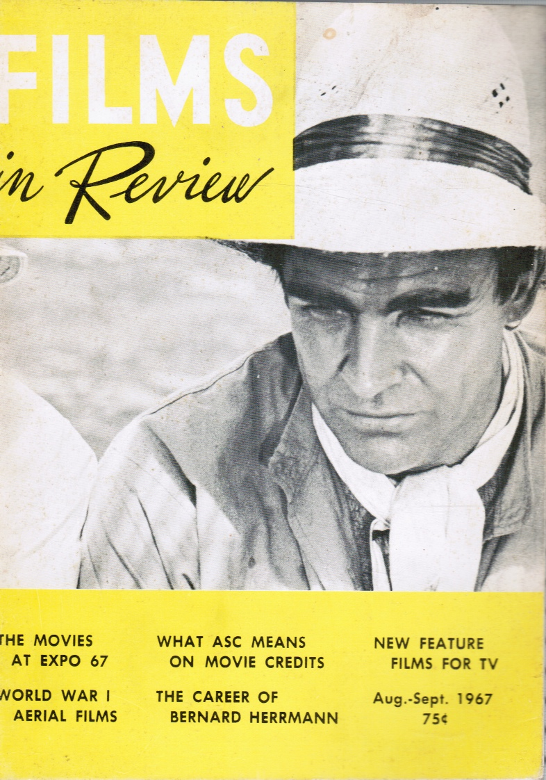 Image for Films in Review: Aug-Sept 1967 Sean Connery (Cover)