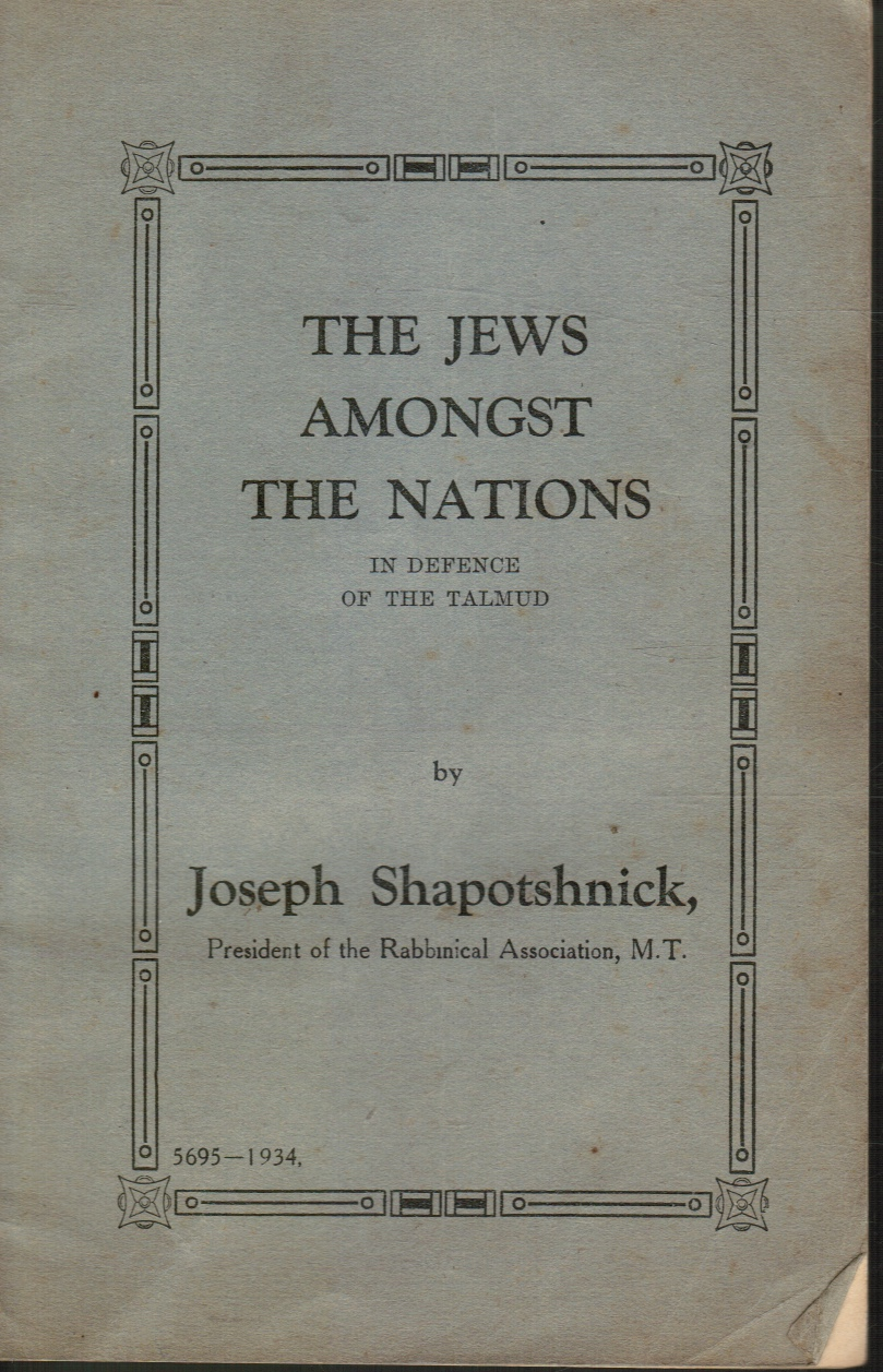 Image for The Jews Amongst the Nations: in Defence of the Talmud