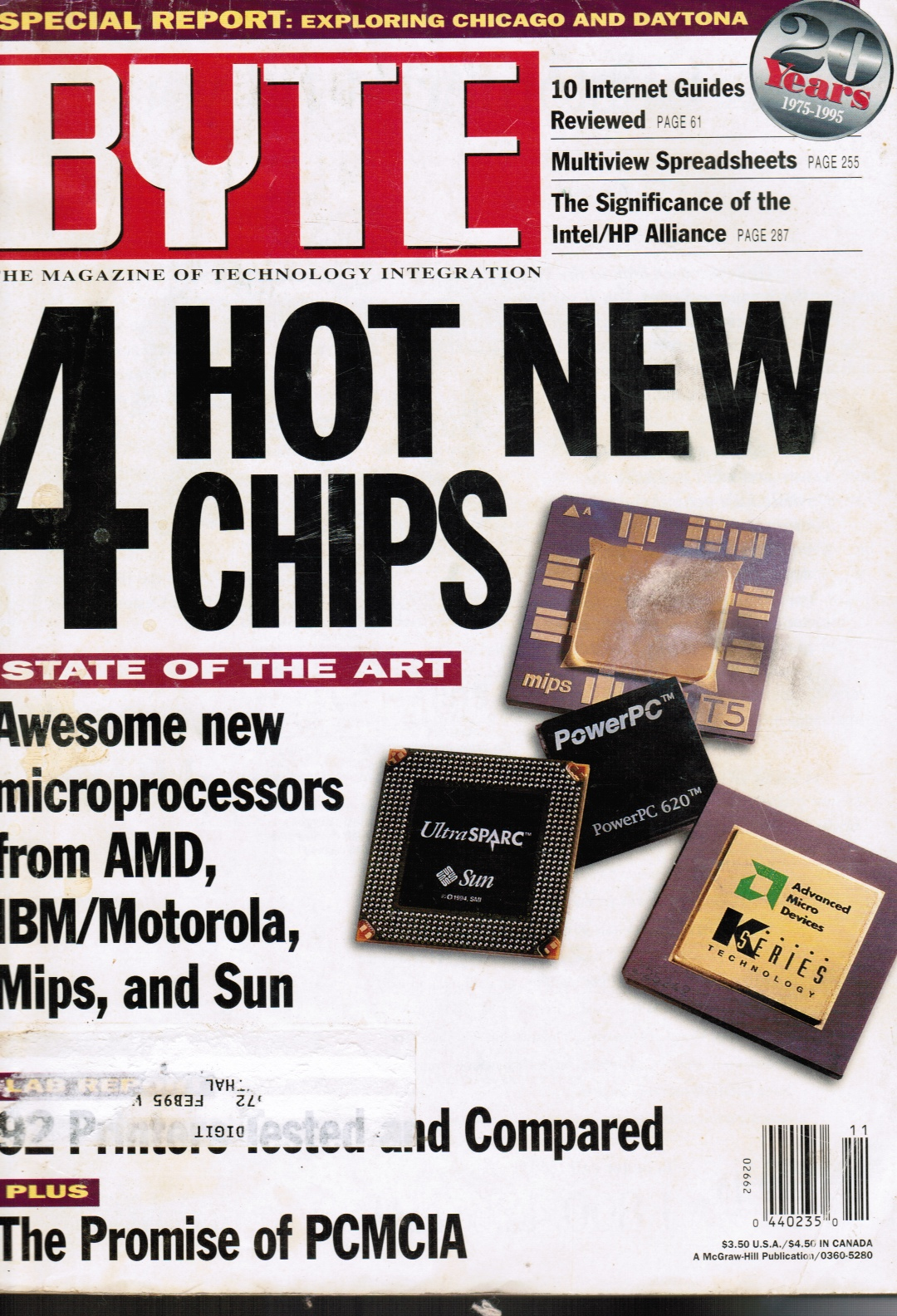 Image for BYTE Magazine November 1994 Hot New Chips