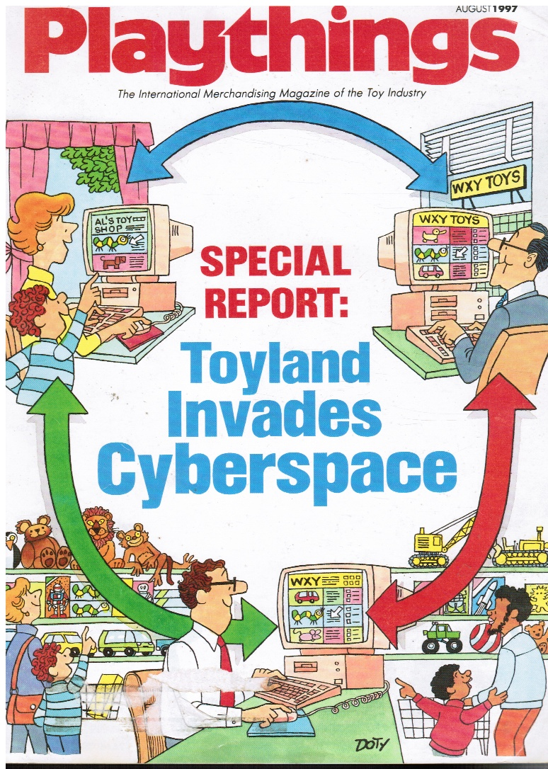 Image for Playthings: the International Magazine of the Toy Industry - August 1997 Toyland Invades Cyberspace (Special Report)