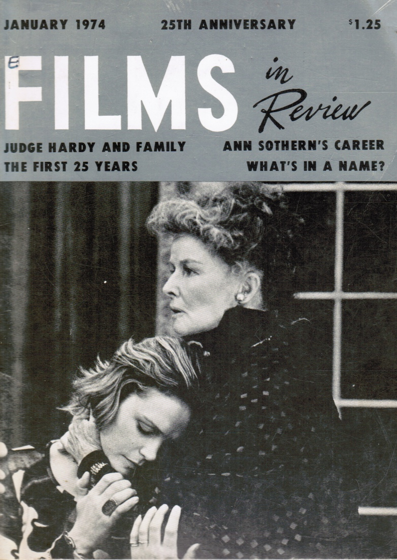 Image for Films in Review: January, 1974 Katharine Hepburn (Cover)