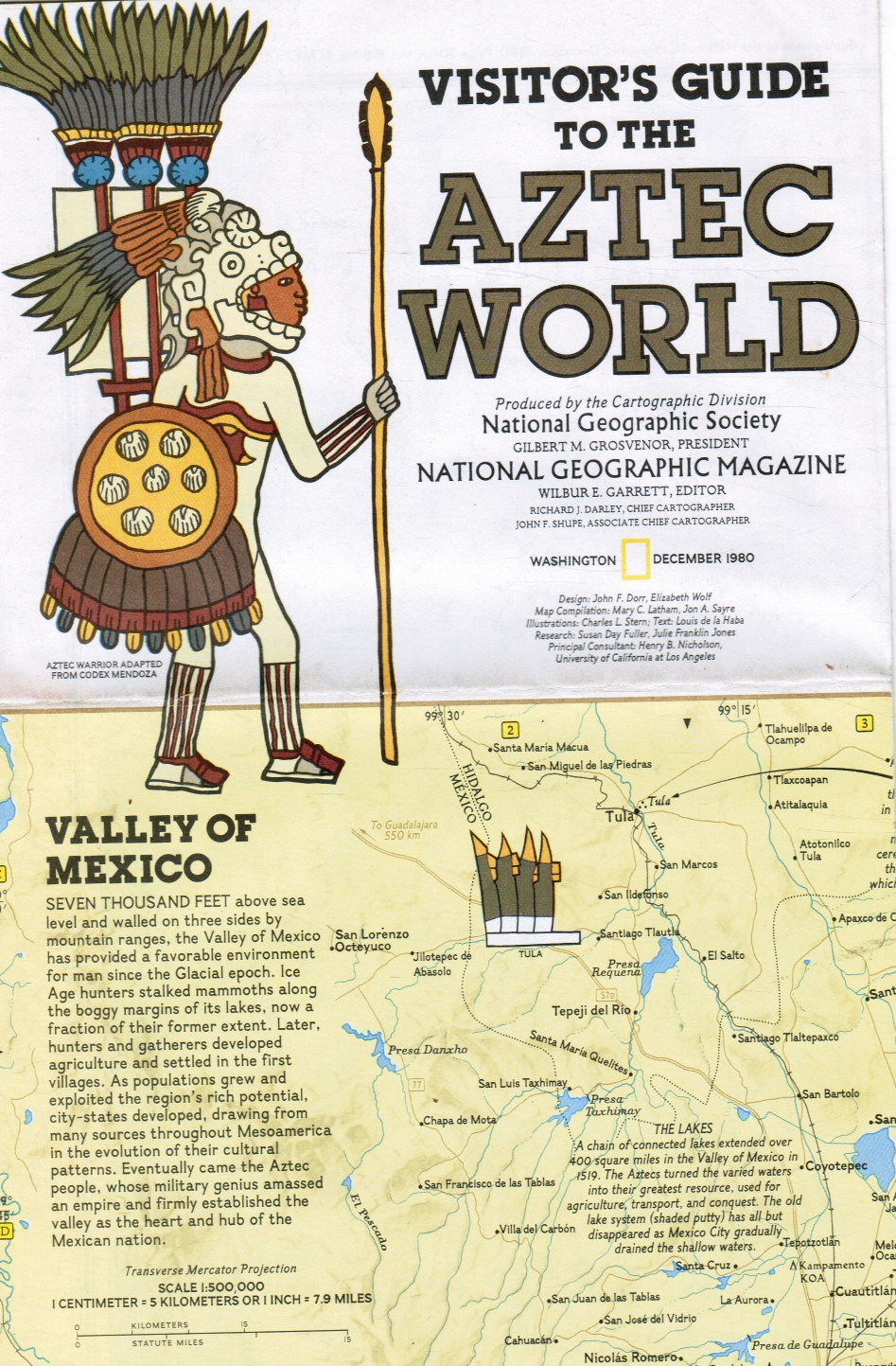 Image for Aztec World Map - Visitor's Guide to the Aztec World