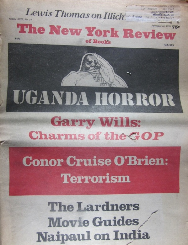 Image for 1976 - the New York Review of Books - September 16, 1976, Volume XXIII, No 14 Uganda Horror, Garry Wills, Conor Cruise O'Brien; the Lardners, Naipaul on India