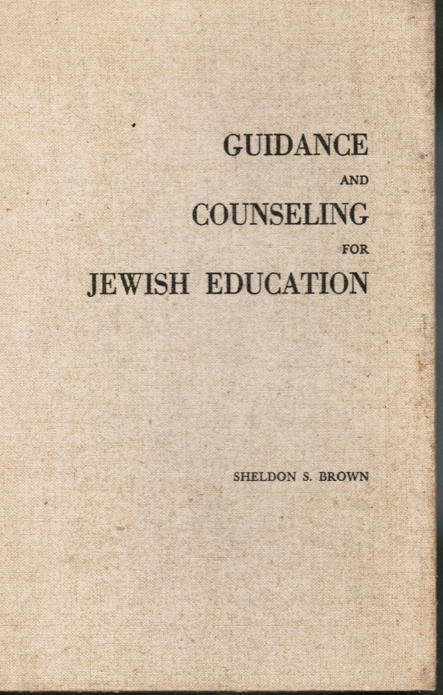 Image for Guidance and Counseling for Jewish Education