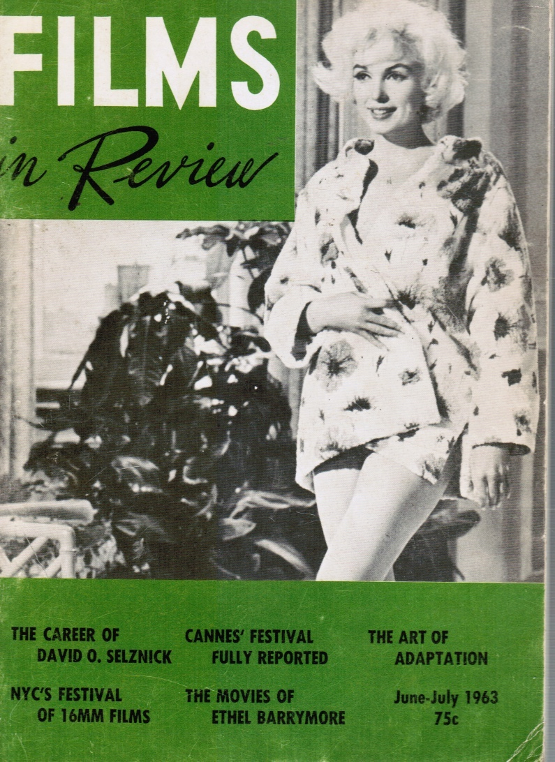 Image for Films in Review Vol XIV N0 6: June - July 1963 Marilyn Monroe, Cover