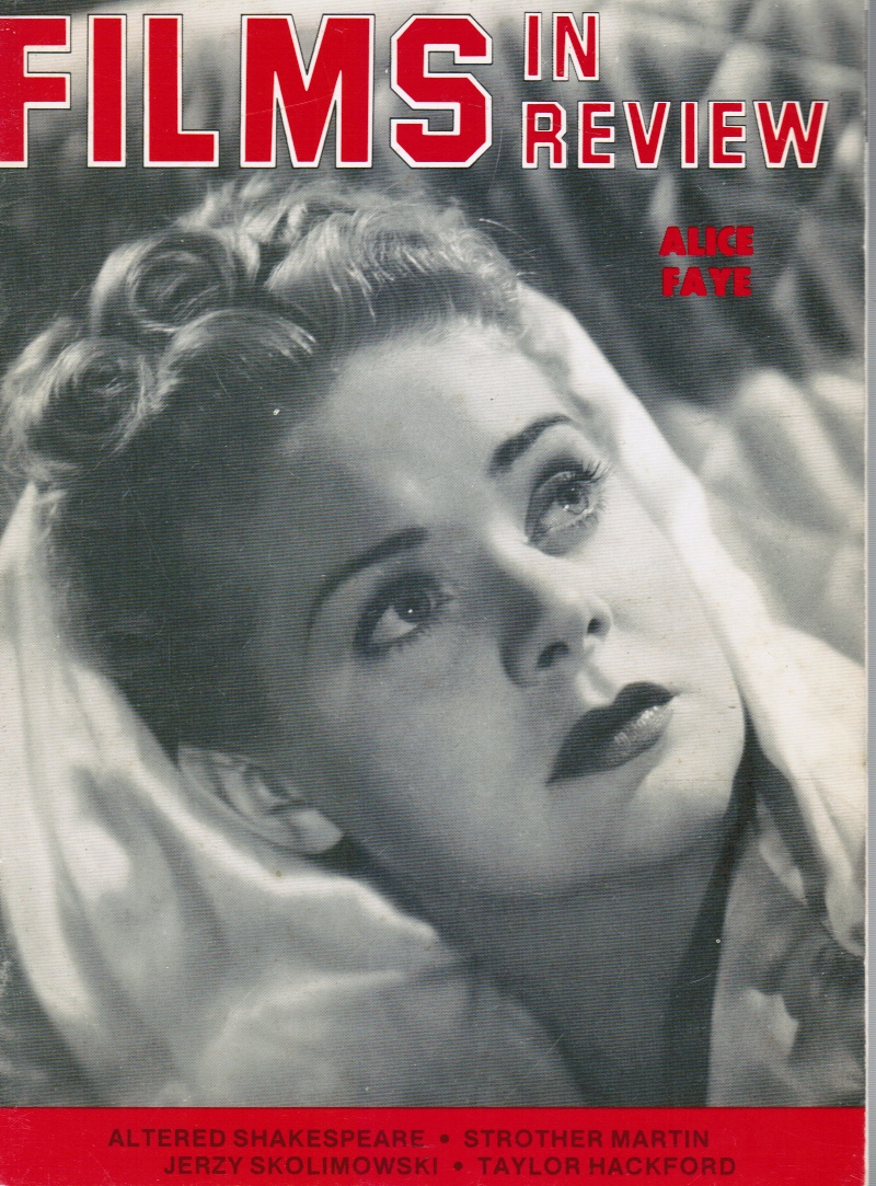 Image for Films in Review: November, 1982 Alice Faye (Cover)