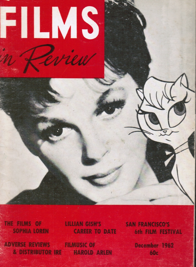 Image for Films in Review: December, 1962 Judy Garland, Cover