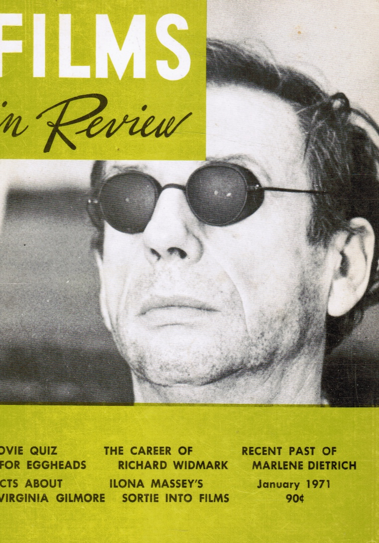 Image for Films in Review: January 1971, Vol XXII, No. 1 Yves Montand (Cover)