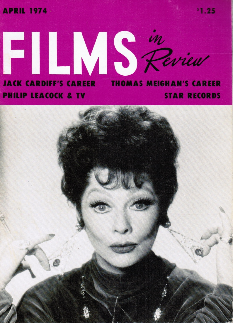 Image for Films in Review - April 1974  (Lucille Ball, Cover)