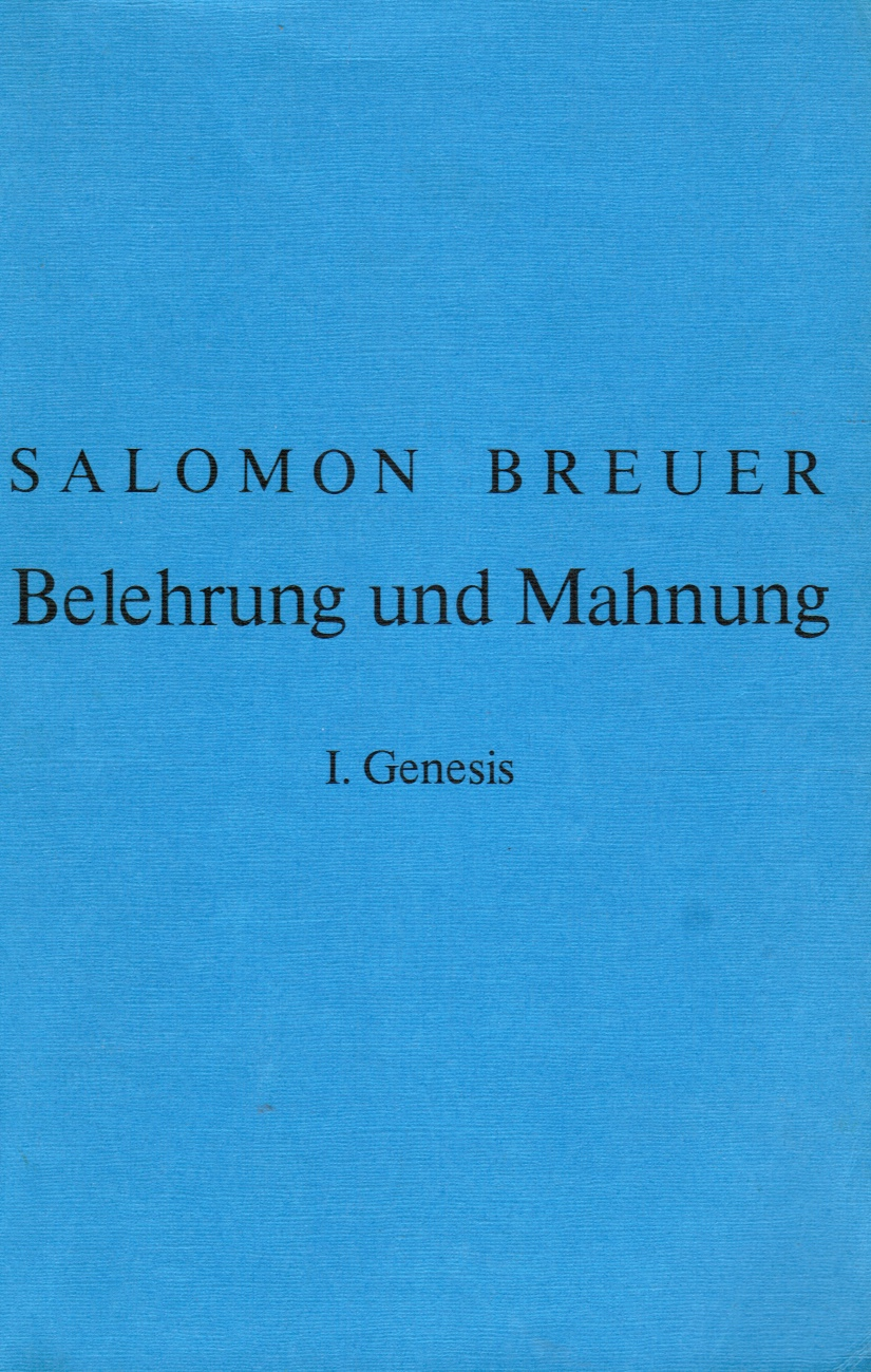 Image for Belehrung Und Mahnung: I. Genesis