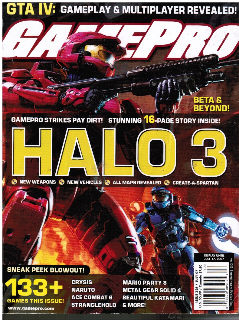 Image for Gamepro Magazine - July 2007 #226 HALO 3 (Featured)