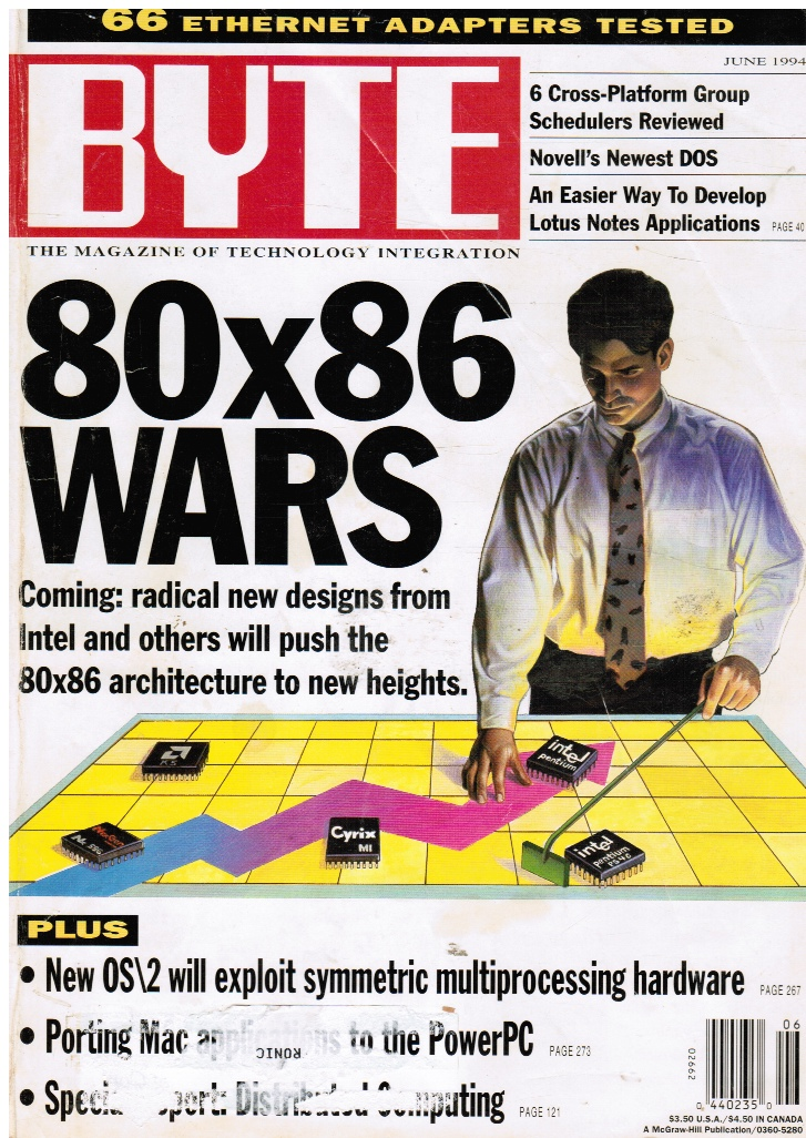 Image for BYTE Magazine June 1994 80x86 Wars