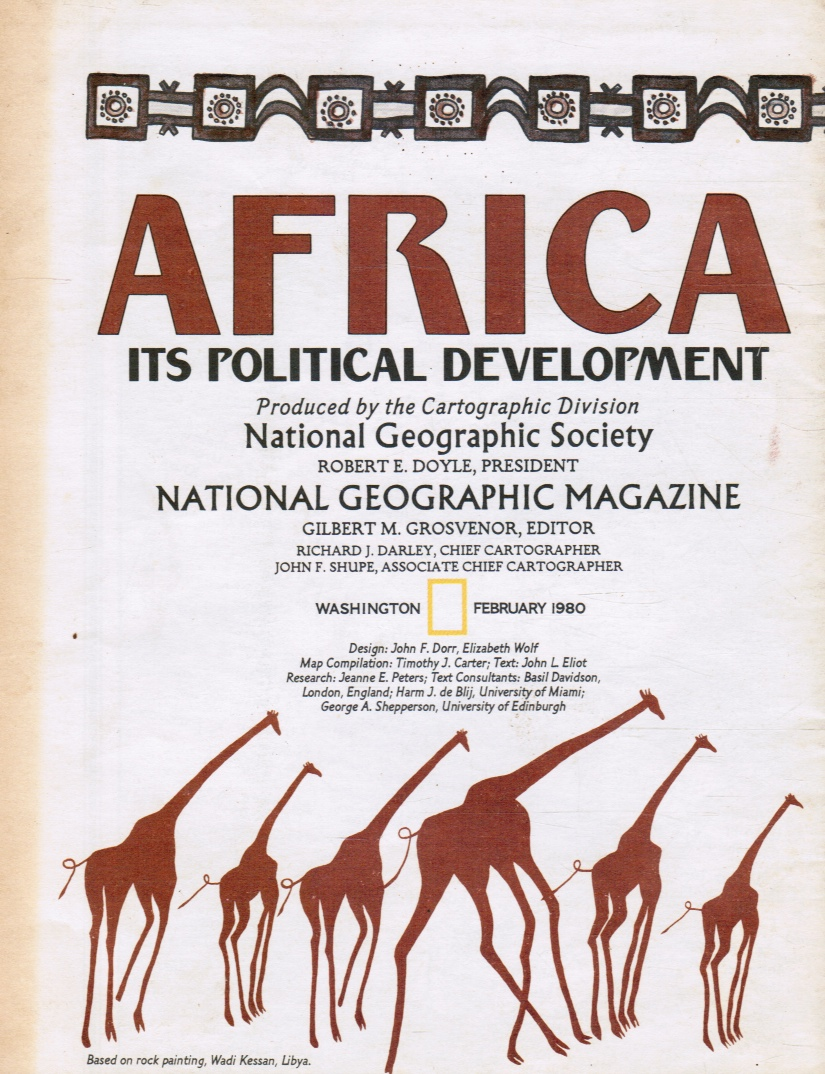 Image for National Geographic Map - Africa - its Political Development / Africa - February 1980 - MAP ONLY