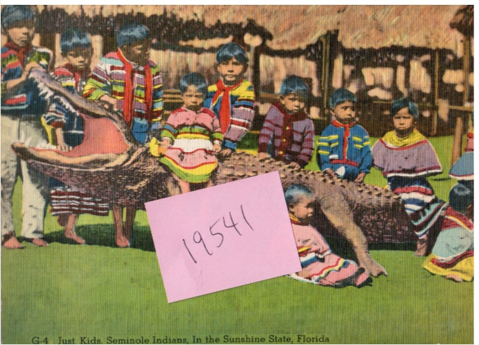 Image for Seminole Indians with Alligator: Giant Post Card