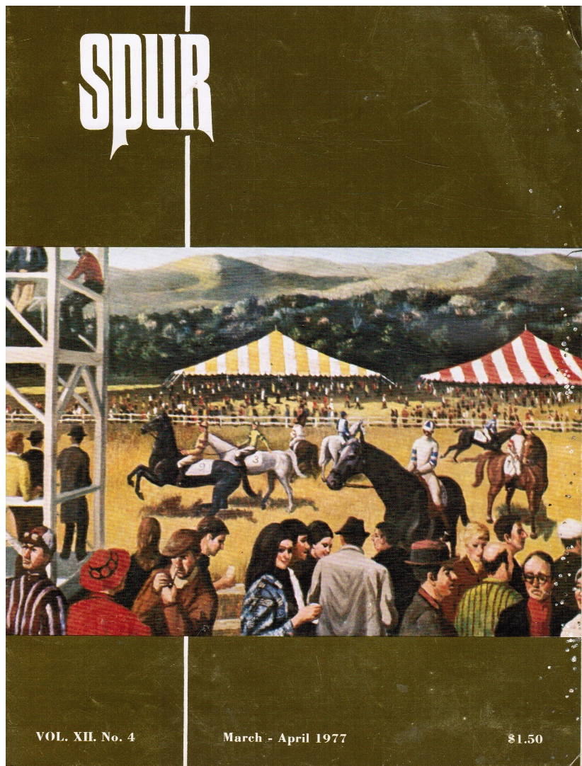 Image for Spur: the Horse Magazine about People - March 1977 Steeplechase, Cover Painting