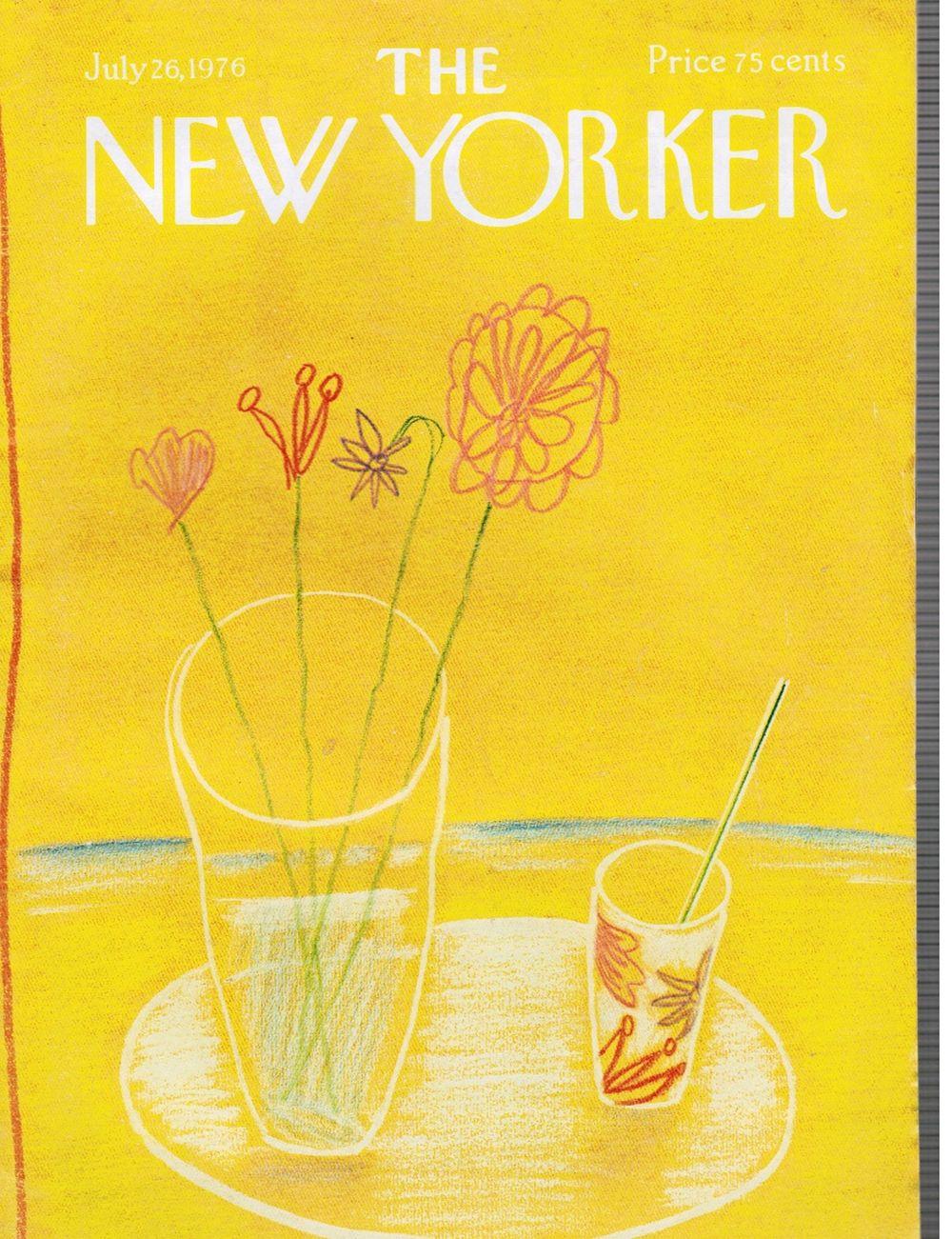 The New Yorker Magazine: July 26, 1976 Handguns, William Steig, carlos drummond de andrade