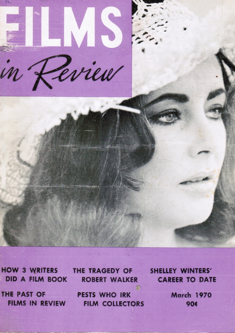 Image for Films in Review March, 1970 Elizabeth Taylor, Cover