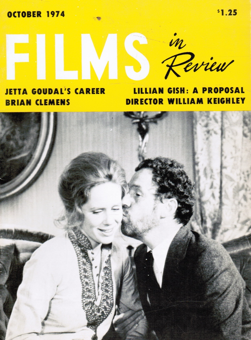 Image for Films in Review: October 1974 LIV Ullmann and Erland Josephson (Cover)