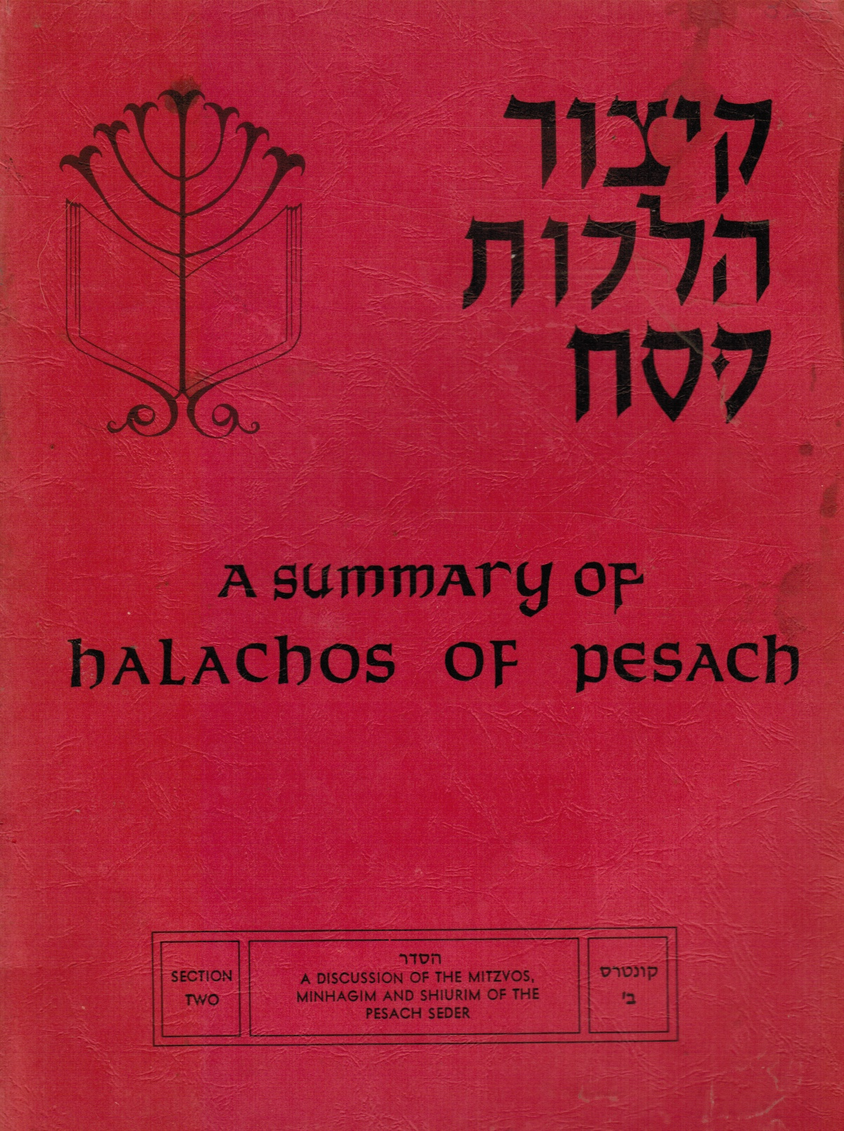 Image for A Summary of Halachos of Pesach - Section Two