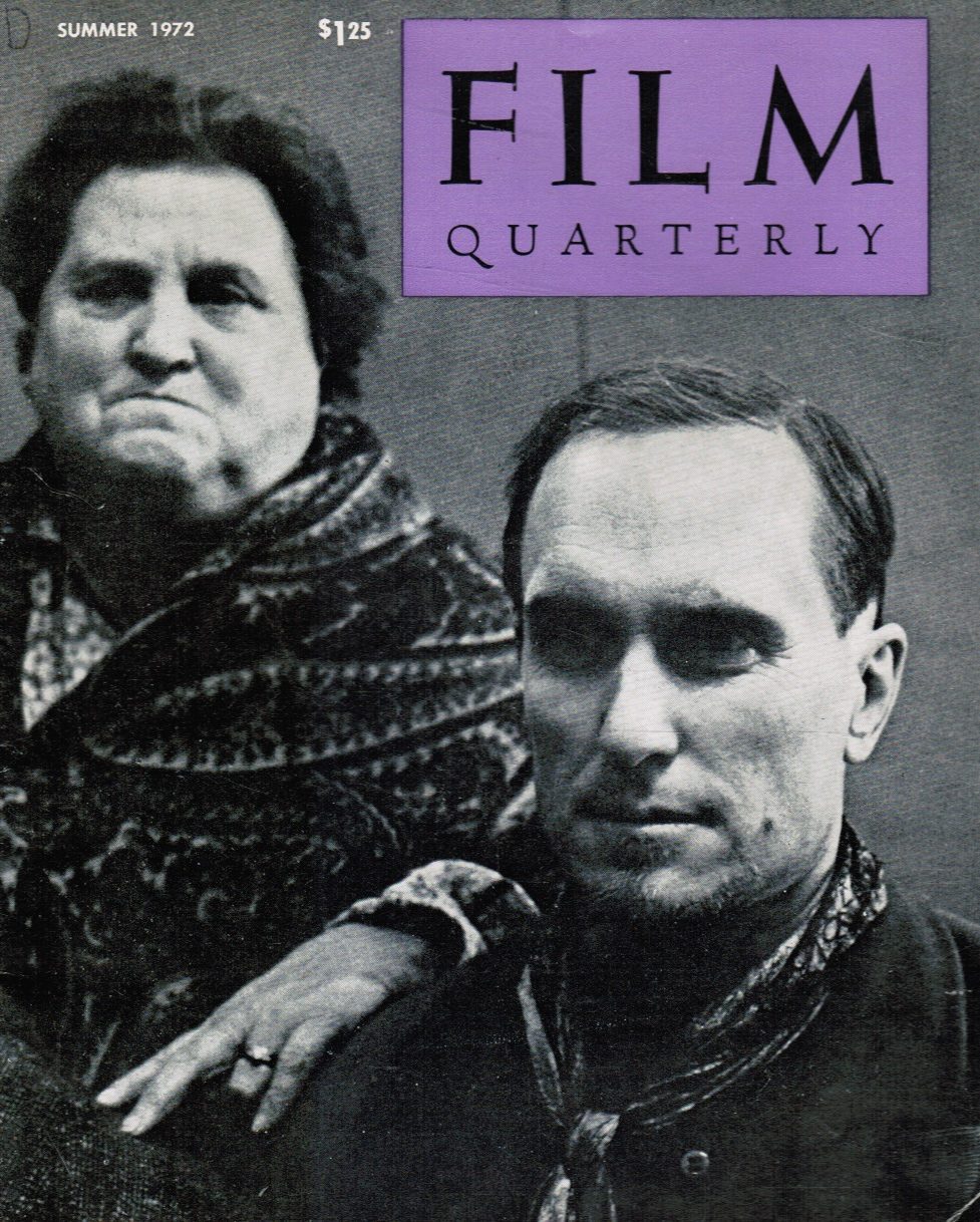 Image for Film Quarterly Summer 1972, Volume XXV, No. 4 Jesse James (Robert Duvall) Cover