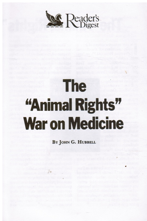 Image for The Animal Rights War on Medicine